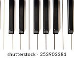Close Up Of Piano Keys. Close...