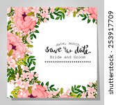 wedding invitation cards with... | Shutterstock .eps vector #253917709
