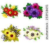 flower set | Shutterstock .eps vector #253918651