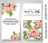 wedding invitation cards with... | Shutterstock .eps vector #253919374