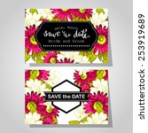 wedding invitation cards with...   Shutterstock .eps vector #253919689