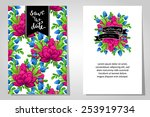 wedding invitation cards with... | Shutterstock . vector #253919734