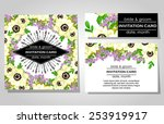 wedding invitation cards with... | Shutterstock .eps vector #253919917