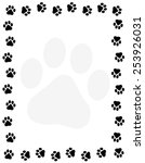 Dog Paw Print Border   Frame O...