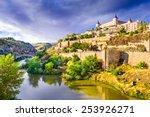 Toledo  Spain Old Town Skyline.