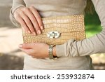spring outdoor fashion young... | Shutterstock . vector #253932874