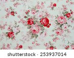 rose fabric background ... | Shutterstock . vector #253937014