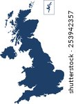 united kingdom map | Shutterstock .eps vector #253942357
