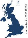 united kingdom map | Shutterstock .eps vector #253942357