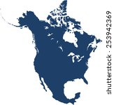north america map | Shutterstock .eps vector #253942369