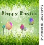 happy easter | Shutterstock . vector #253948441
