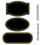 glowing retro theater marquee... | Shutterstock .eps vector #253959295