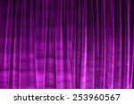 Purple Closed Velvet Curtain I...