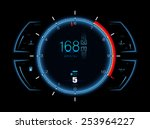 realistic sports car speedometer | Shutterstock . vector #253964227