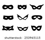 black mask shapes collection... | Shutterstock .eps vector #253965115