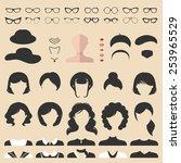 big vector set of dress up... | Shutterstock .eps vector #253965529