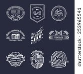 vector set of vintage hipster... | Shutterstock .eps vector #253965541