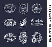 vector set of vintage hipster... | Shutterstock .eps vector #253965541