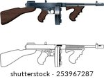 vintage thompson tommy submachine gun