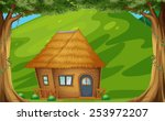 illustration of a wood cabin in ... | Shutterstock .eps vector #253972207