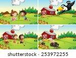illustration of four scenes... | Shutterstock .eps vector #253972255