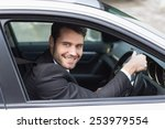 happy businessman in the... | Shutterstock . vector #253979554