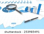 3d positive bar graphs of... | Shutterstock . vector #253985491