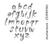 vector alphabet. hand drawn... | Shutterstock .eps vector #253985581