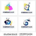 creative tv broadcast logo.... | Shutterstock .eps vector #253991434
