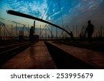 construction worker on... | Shutterstock . vector #253995679