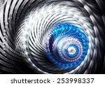 Abstract Circular Futuristic...