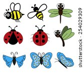set of insects. | Shutterstock .eps vector #254029309