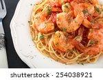 Pasta Spaghetti With Prawns