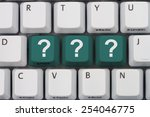 getting answers online  a gray... | Shutterstock . vector #254046775