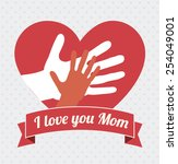 mothers day  card design ... | Shutterstock .eps vector #254049001