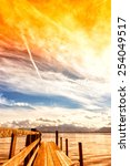 Wooden Jetty Lake Chiemsee ...