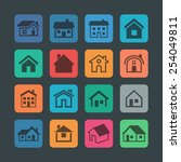 house icons | Shutterstock .eps vector #254049811