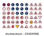traffic signs. vector... | Shutterstock .eps vector #25404988