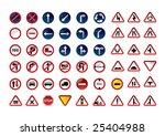 traffic signs. vector... | Shutterstock .eps vector #25404988