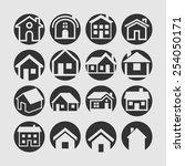resident icons | Shutterstock .eps vector #254050171