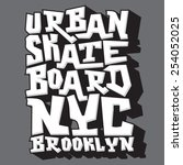skate board typography  t shirt ...