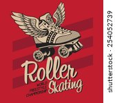 Roller Skate Typography  T...