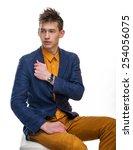 student boy studio | Shutterstock . vector #254056075