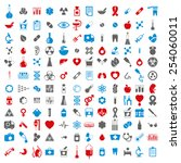 medical icons set  vector set... | Shutterstock .eps vector #254060011