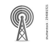 transmitter icon on white... | Shutterstock .eps vector #254081521