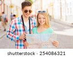 travel  vacation  technology... | Shutterstock . vector #254086321