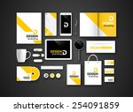 set of corporate identity and... | Shutterstock .eps vector #254091859