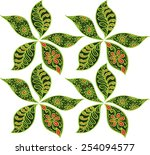 art of batik floral pattern... | Shutterstock .eps vector #254094577