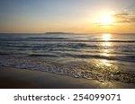 Sunset On Corfu Island   Greece