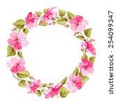 Floral Wreath For Vintage Label....